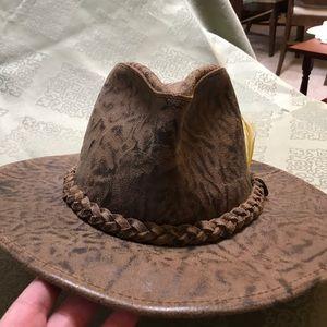 Suede safari hat